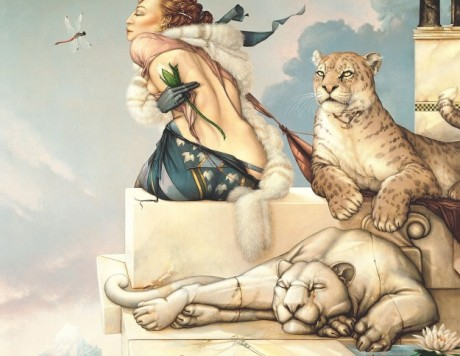 Deva Giclee on Canvas Michael Parkes
